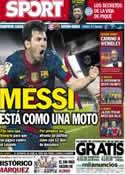 Portada diario Sport del 22 de Abril de 2013