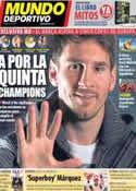 Portada Mundo Deportivo del 22 de Abril de 2013