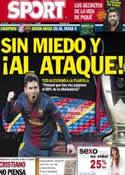Portada diario Sport del 23 de Abril de 2013