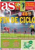 Portada diario AS del 24 de Abril de 2013