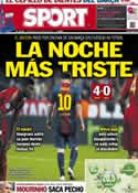 Portada diario Sport del 24 de Abril de 2013