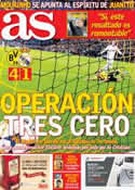 Portada diario AS del 25 de Abril de 2013