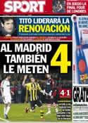 Portada diario Sport del 25 de Abril de 2013