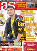 Portada diario AS del 26 de Abril de 2013