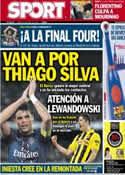Portada diario Sport del 26 de Abril de 2013