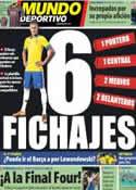 Portada Mundo Deportivo del 26 de Abril de 2013