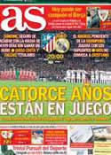 Portada diario AS del 27 de Abril de 2013