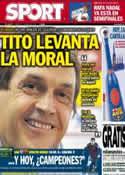 Portada diario Sport del 27 de Abril de 2013