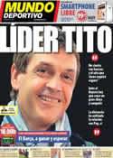 Portada Mundo Deportivo del 27 de Abril de 2013