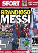 Portada diario Sport del 28 de Abril de 2013
