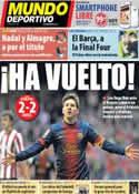 Portada Mundo Deportivo del 28 de Abril de 2013
