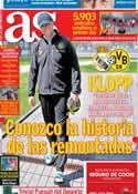 Portada diario AS del 29 de Abril de 2013