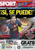 Portada diario Sport del 29 de Abril de 2013