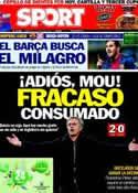 Portada diario Sport del 1 de Mayo de 2013