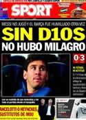 Portada diario Sport del 2 de Mayo de 2013