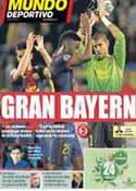 Portada Mundo Deportivo del 2 de Mayo de 2013