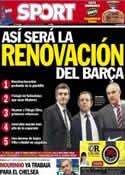 Portada diario Sport del 3 de Mayo de 2013