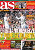 Portada diario AS del 5 de Mayo de 2013