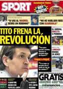 Portada diario Sport del 5 de Mayo de 2013