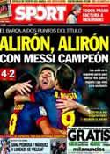 Portada diario Sport del 6 de Mayo de 2013