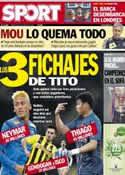 Portada diario Sport del 8 de Mayo de 2013