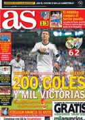 Portada diario AS del 9 de Mayo de 2013
