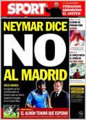 Portada diario Sport del 9 de Mayo de 2013