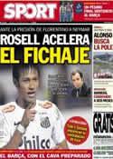 Portada diario Sport del 11 de Mayo de 2013