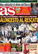 Portada diario AS del 12 de Mayo de 2013