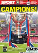 Portada diario Sport del 12 de Mayo de 2013