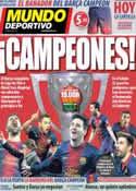 Portada Mundo Deportivo del 12 de Mayo de 2013