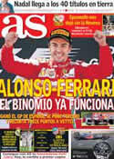 Portada diario AS del 13 de Mayo de 2013