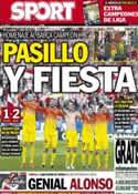 Portada diario Sport del 13 de Mayo de 2013