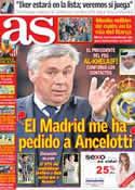 Portada diario AS del 14 de Mayo de 2013