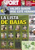 Portada diario Sport del 15 de Mayo de 2013