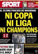 Portada diario Sport del 18 de Mayo de 2013