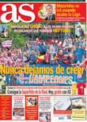 Portada diario AS del 19 de Mayo de 2013