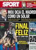 Portada diario Sport del 19 de Mayo de 2013