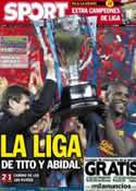 Portada diario Sport del 20 de Mayo de 2013