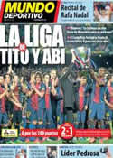 Portada Mundo Deportivo del 20 de Mayo de 2013