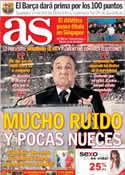 Portada diario AS del 21 de Mayo de 2013