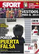 Portada diario Sport del 21 de Mayo de 2013