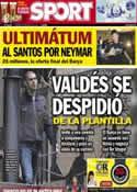 Portada diario Sport del 24 de Mayo de 2013