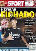 Portada diario Sport del 25 de Mayo de 2013