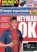 Portada Mundo Deportivo del 25 de Mayo de 2013