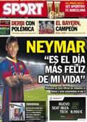 Portada diario Sport del 26 de Mayo de 2013