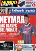 Portada Mundo Deportivo del 26 de Mayo de 2013