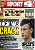 Portada diario Sport del 27 de Mayo de 2013