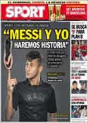 Portada diario Sport del 29 de Mayo de 2013