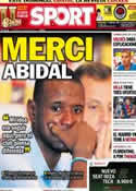 Portada diario Sport del 31 de Mayo de 2013